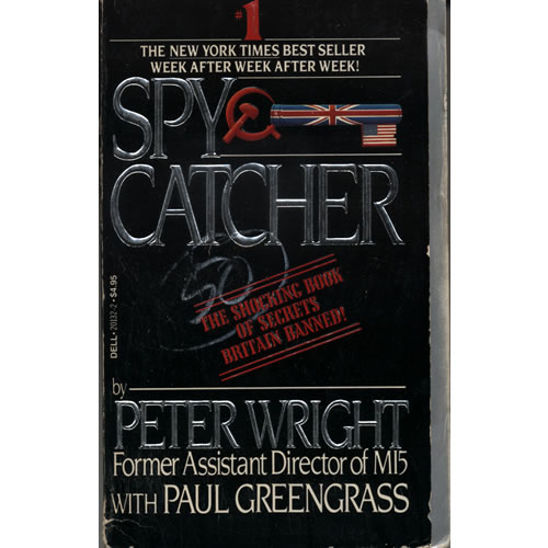 Spycatcher by Peter Wright & Paul Greengrass