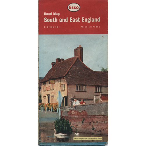 South And East Englan Map by Esso